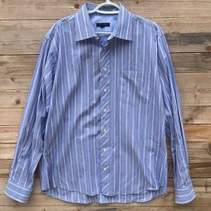 Ted Baker | Men's Striped Button Down Polo
